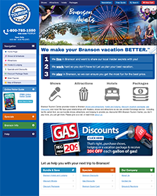 branson tourism center site screen shot